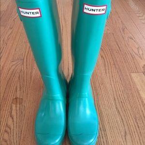 Hunter Original Gloss-Tall Boots Green